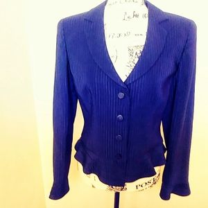 Armani collection blazer black with pinstripes